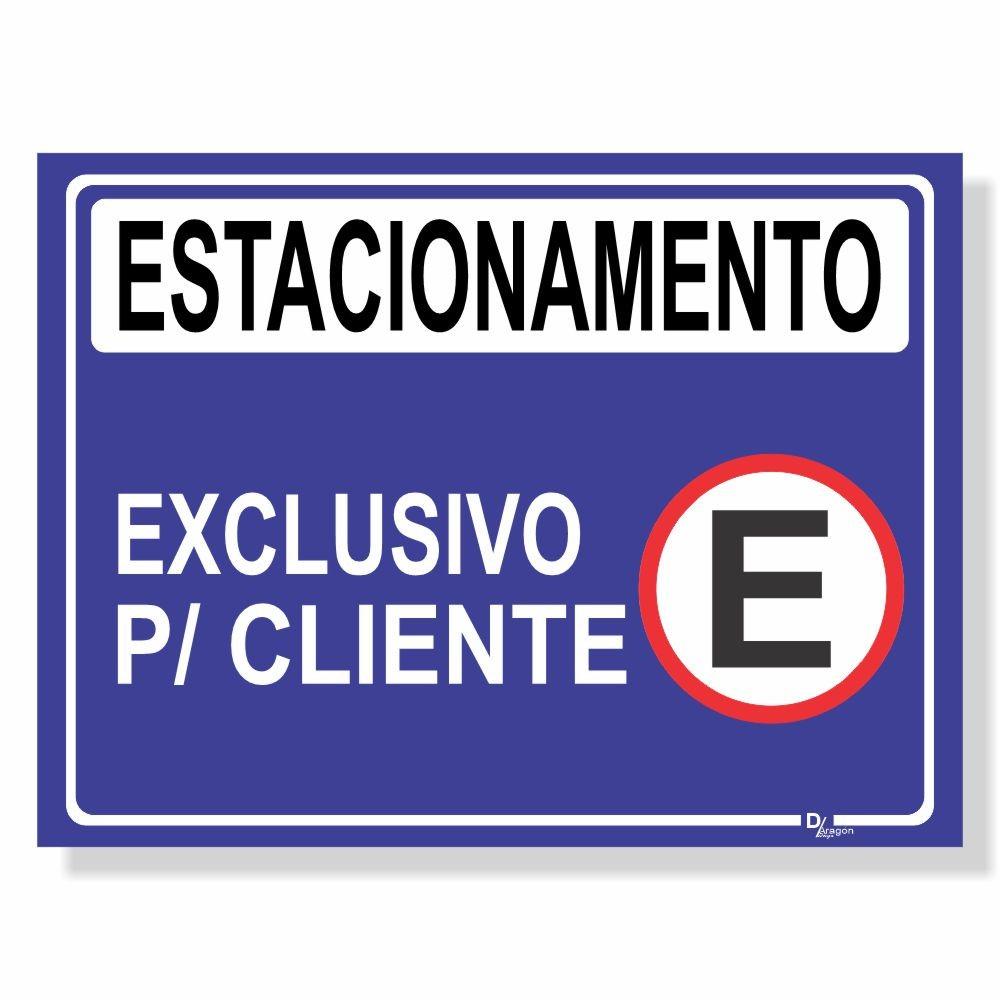 Placa de Sinalização Estacionamento Clientes 2