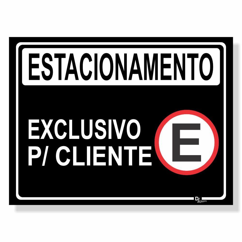 Placa de Sinalização Estacionamento Clientes