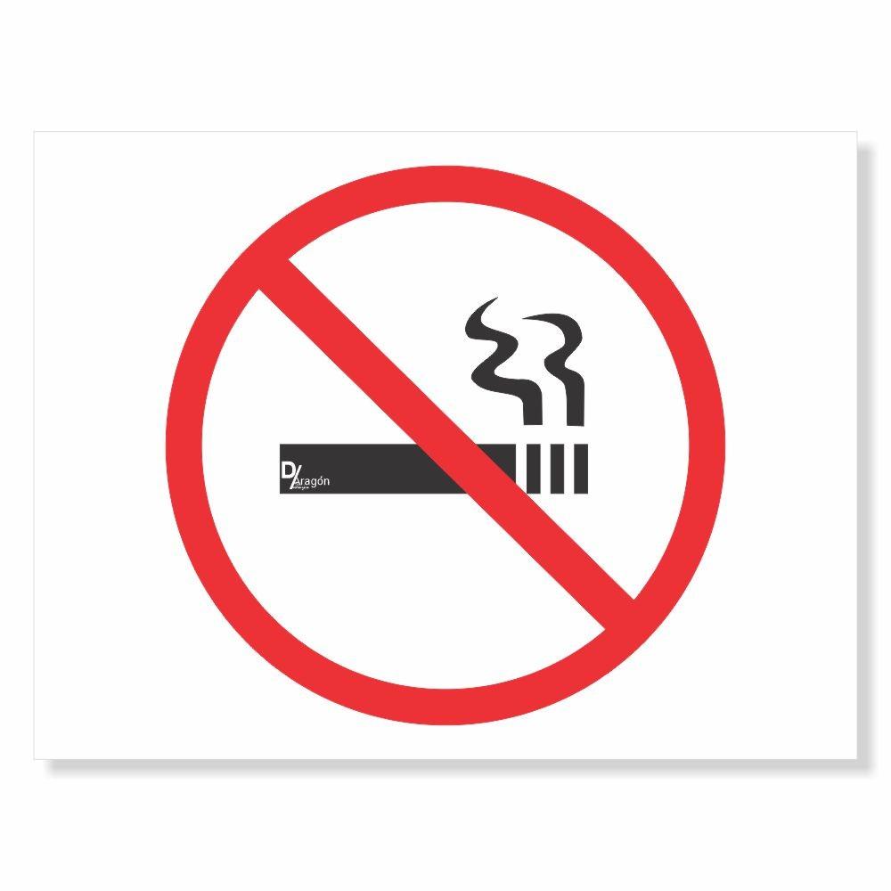 Placa de Sinalização Não Fume Neste Local