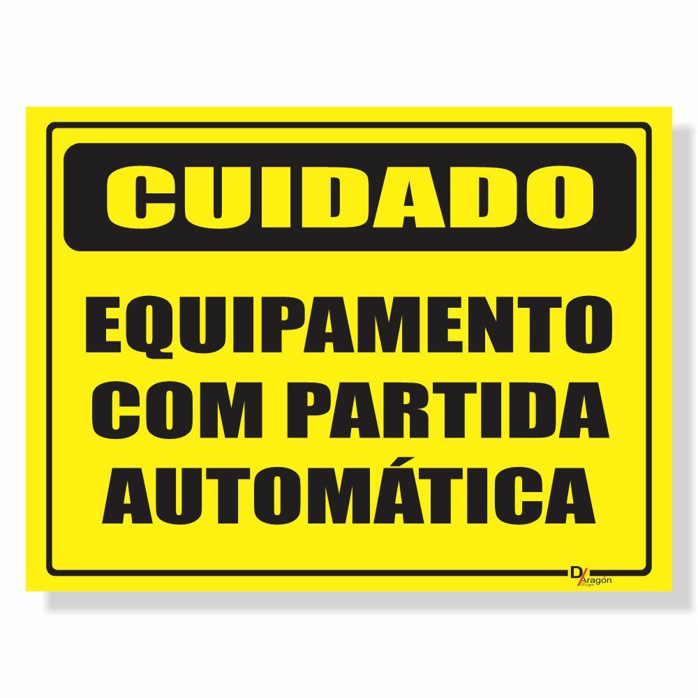 Placa de Sinalização Partida automática