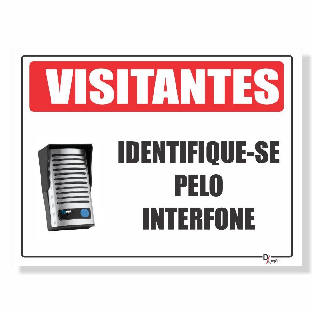 Placa de Sinalização Visitantes