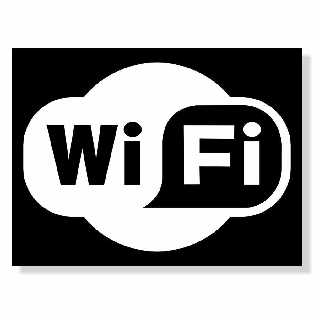 Placa de Sinalização Wifi