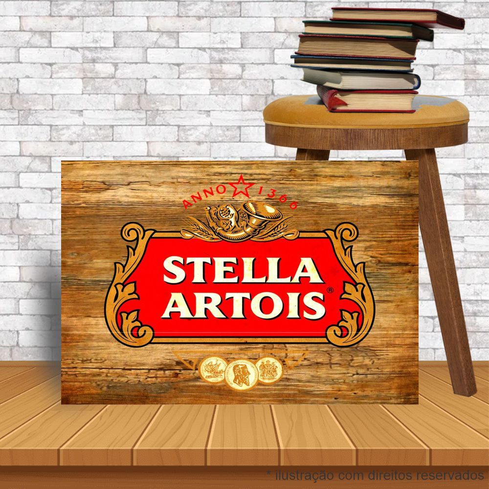 Placa Decorativa Bar Café Stella Artois