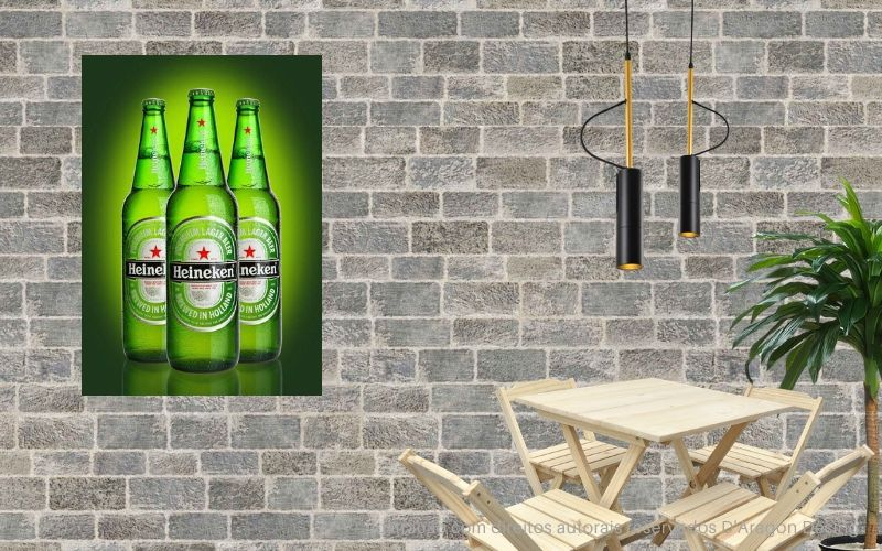 Placa Decorativa Bar Cartaz Cerveja Heineken Green