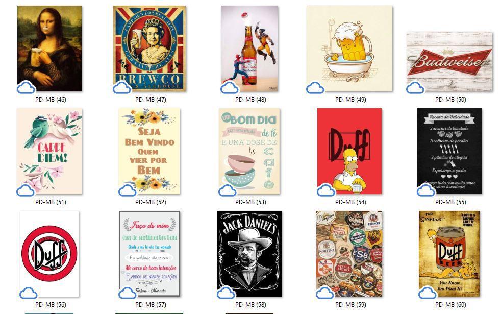 Placa Decorativa Bar Cerveja e Seus Copos