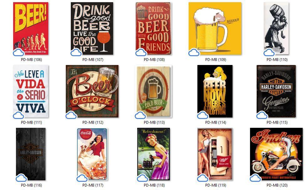 Placa Decorativa Bar Como Pedir uma Cerveja no Mundo