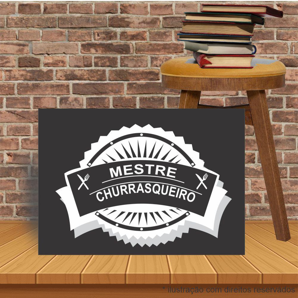 Placa Decorativa Bar Cozinha Mestre Churrasqueiro