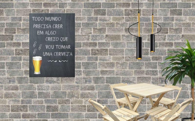 Placa Decorativa Bar Creio Que Vou Tomar Uma Cerveja