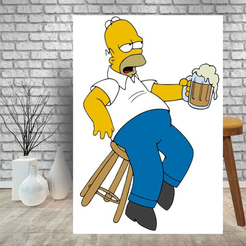 Placa Decorativa Bar Homer Simpson Cerveja