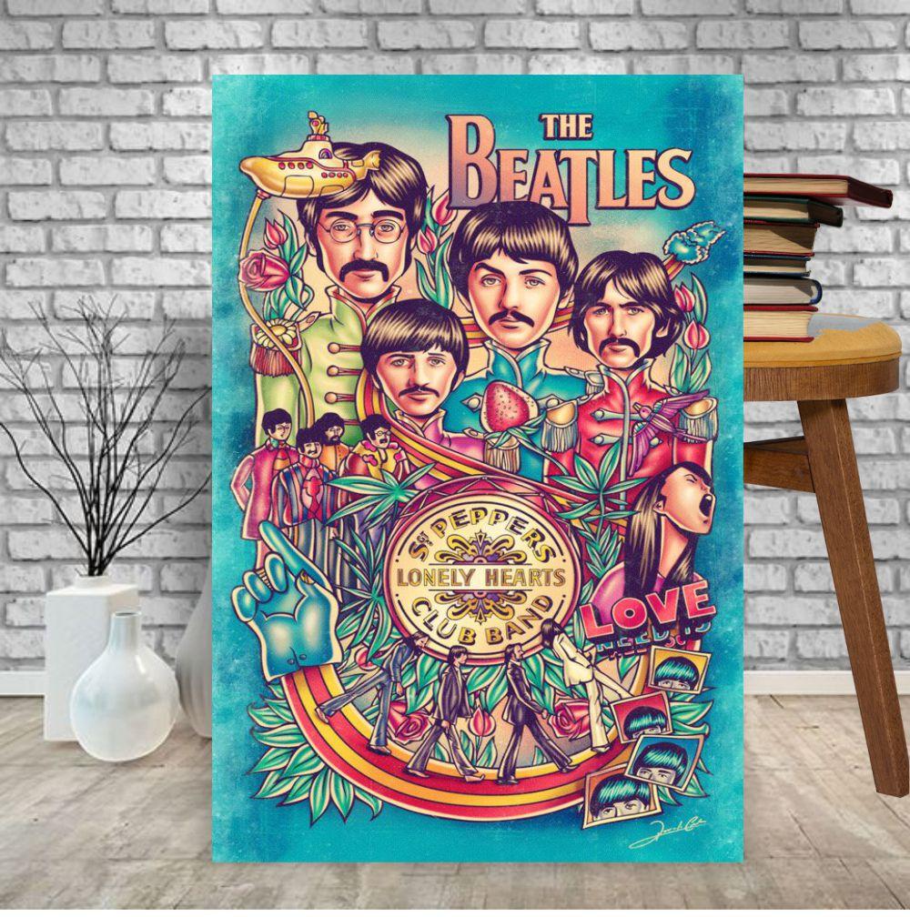 Placa Decorativa Beatles Lonely Hearts