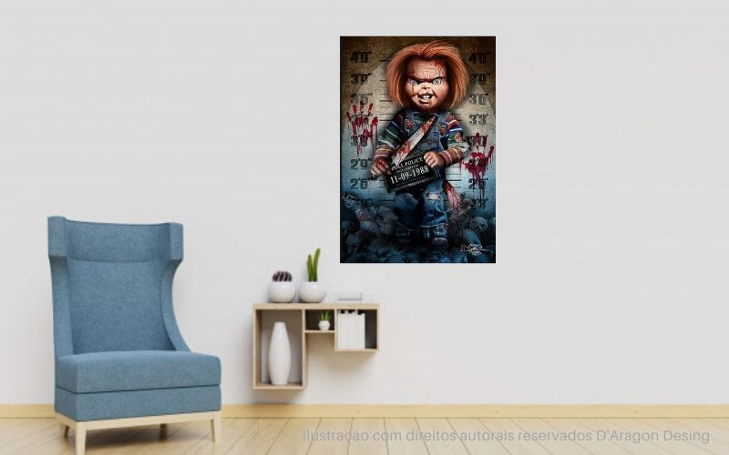 Placa Decorativa Boneco Assassino Chucky 1988