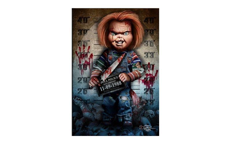 Placa Decorativa Boneco Assassino Chucky 1988