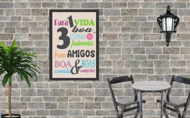 Placa Decorativa Bons Amigos Boa Comida Boa Musica