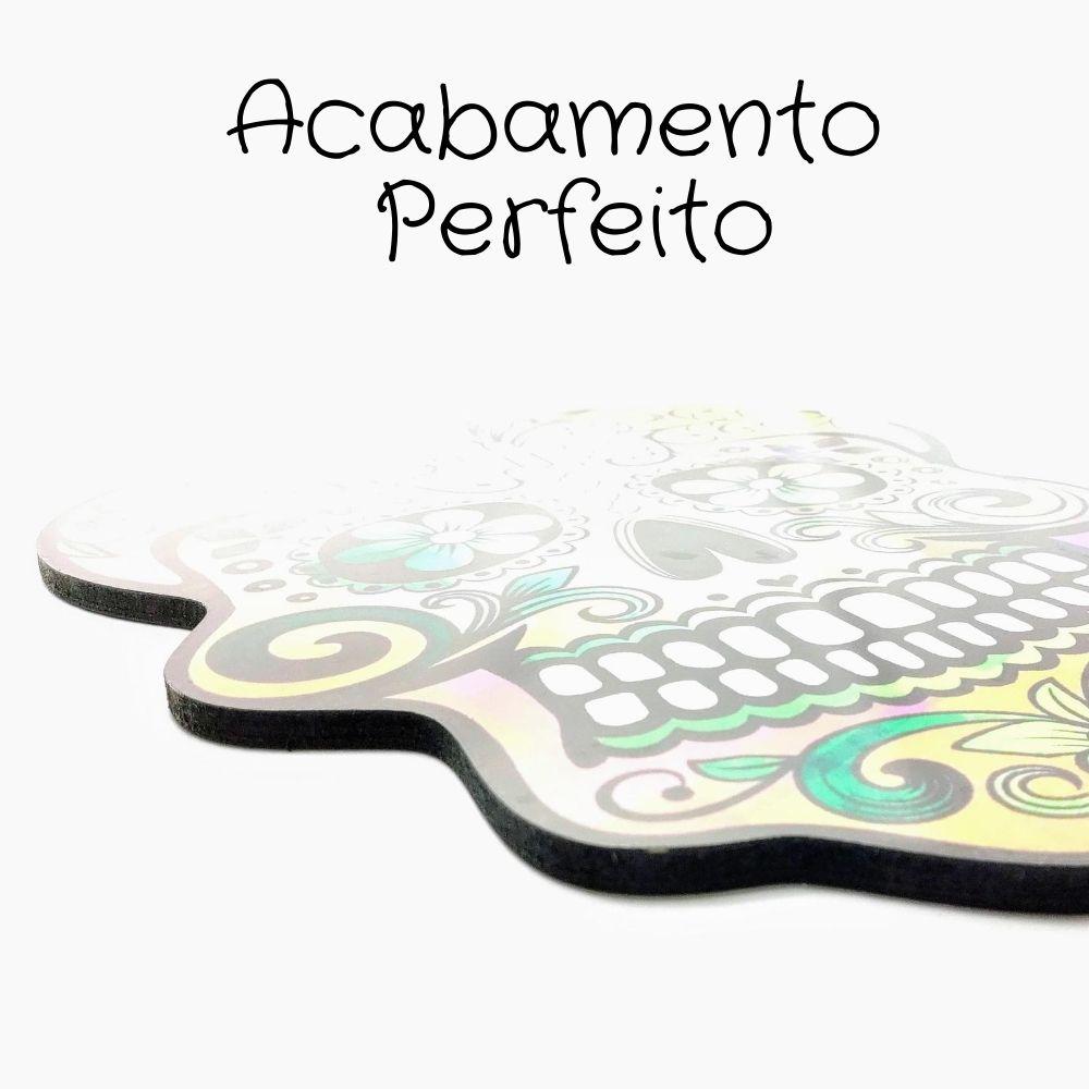 Placa Decorativa Caveira Mexicana MDF 9mm