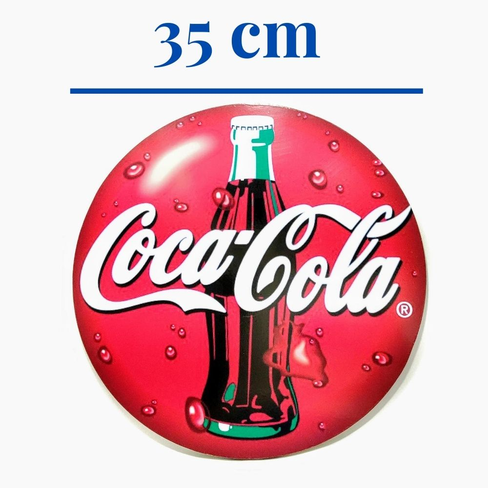 Placa Decorativa Coca-Cola em MDF 9mm