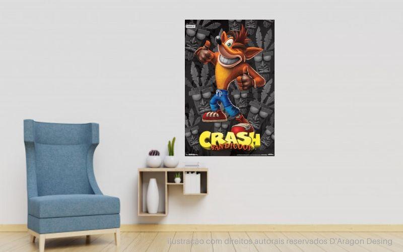 Placa Decorativa Crash Bandicoot