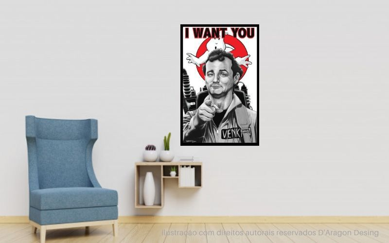 Placa Decorativa Ghost I Want You