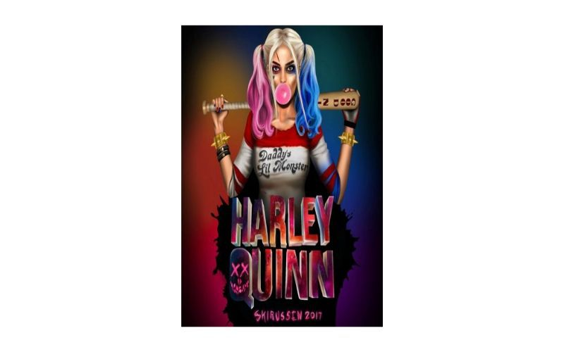 Placa Decorativa Harley Quinn 2017