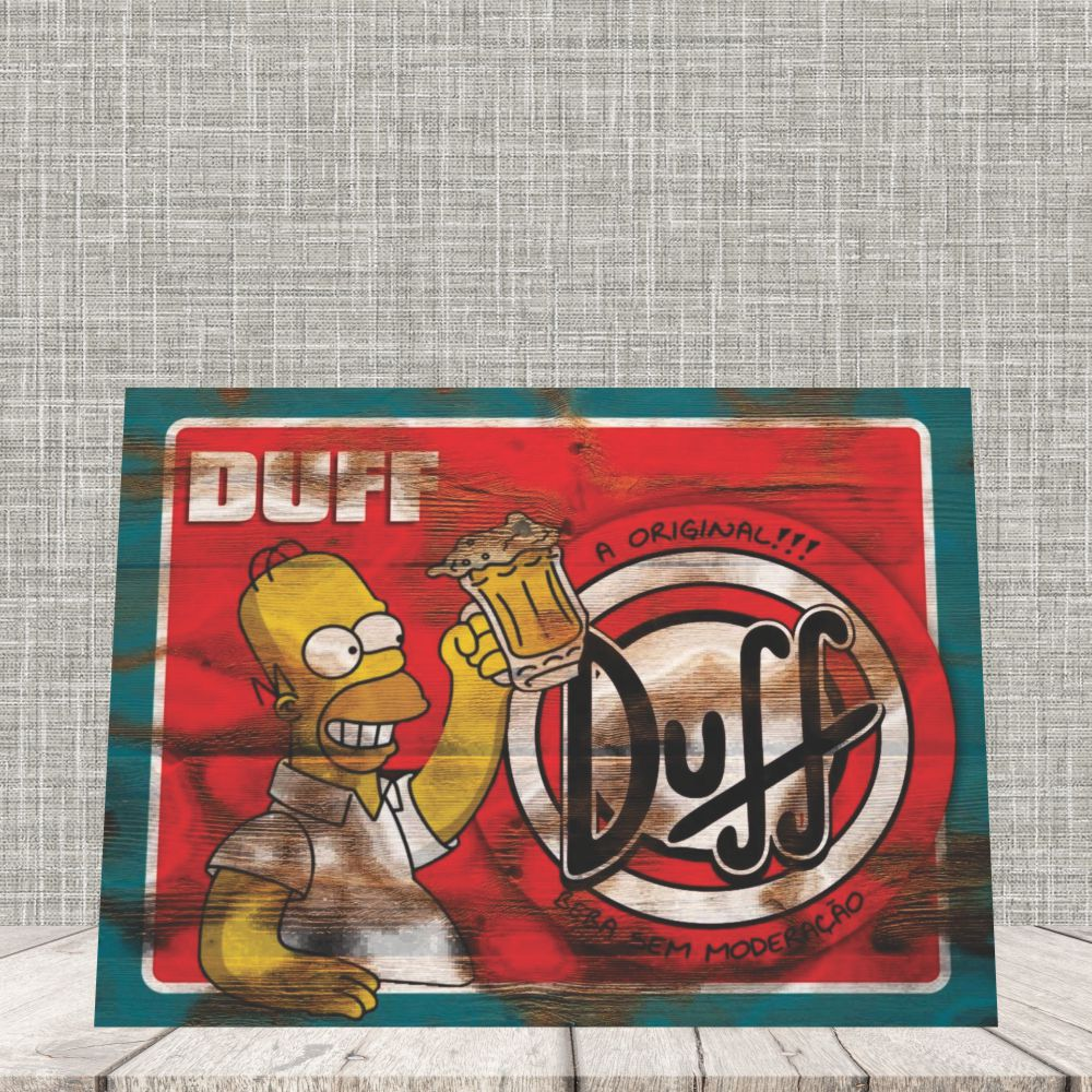 Placa Decorativa Homer Simpson Cerveja Duff