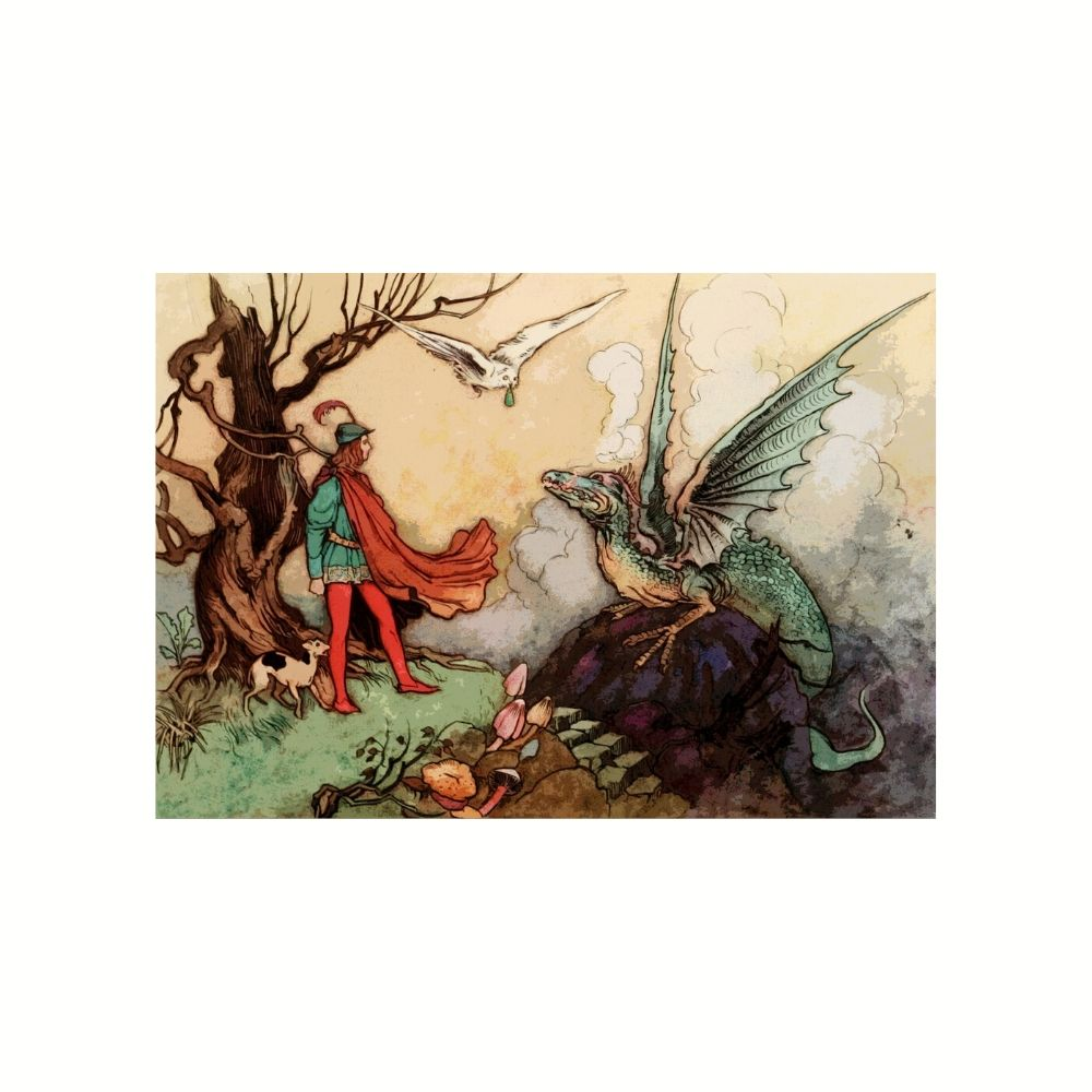 Placa Decorativa MDF Adestrando Dragão