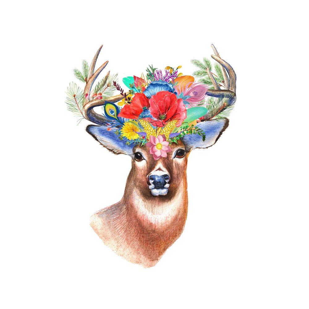 Placa Decorativa MDF Cervo Gentileza e Gratidão