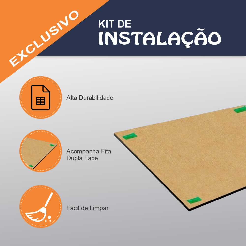Placa Decorativa MDF Gato Preto Abstrato