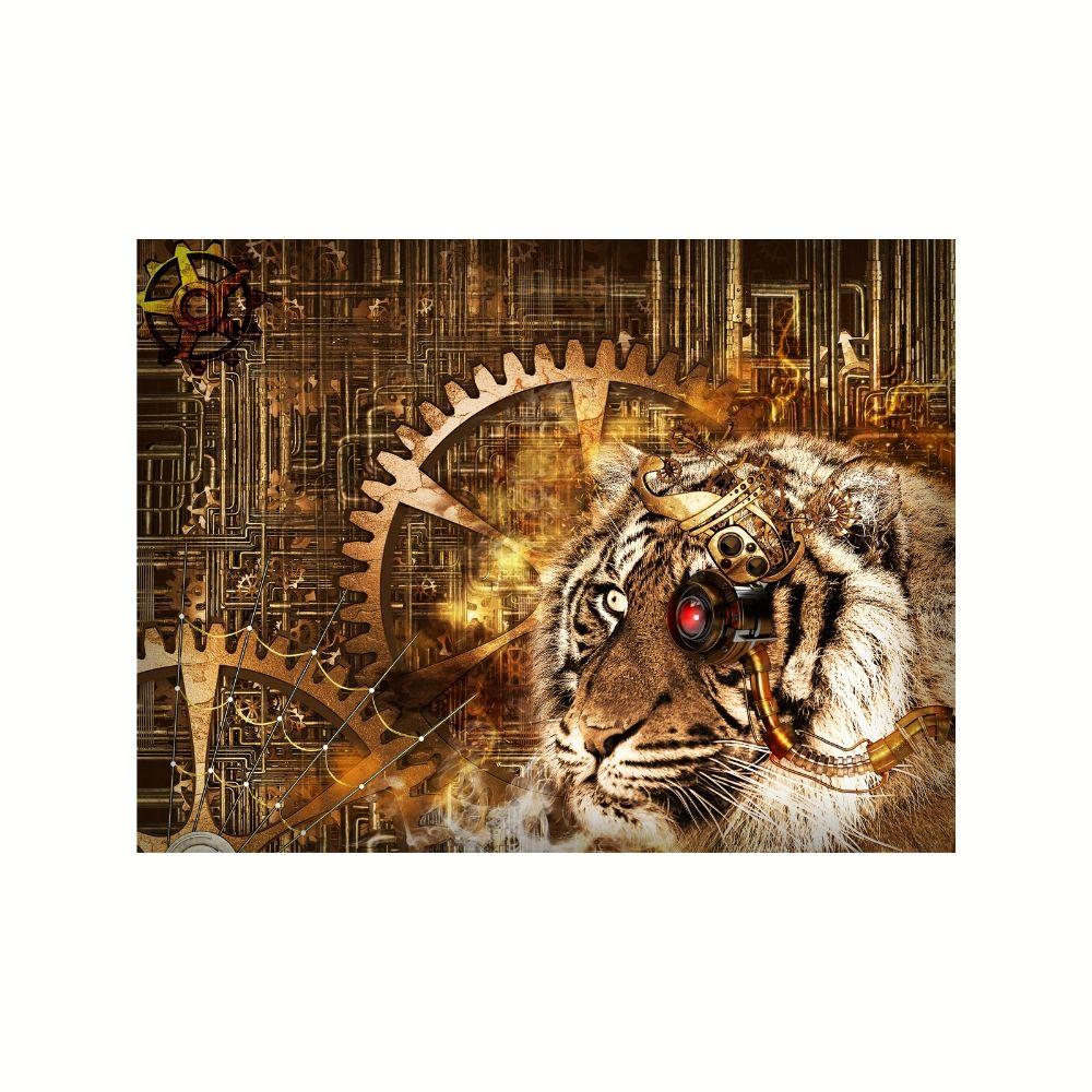 Placa Decorativa MDF Tigre Mecânico Abstrato