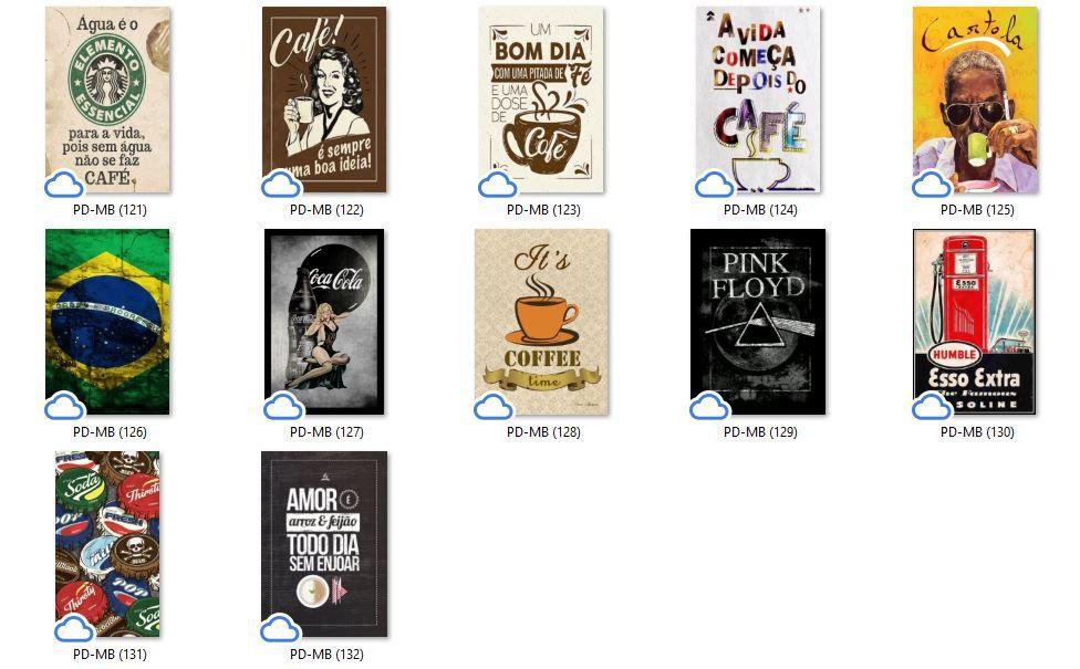 Placa Decorativa Motivacional Um Café para Acordar