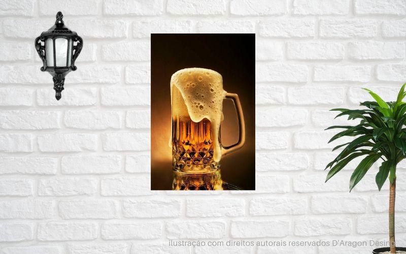 Placa Decorativa Retro Bar Caneco de Chopp