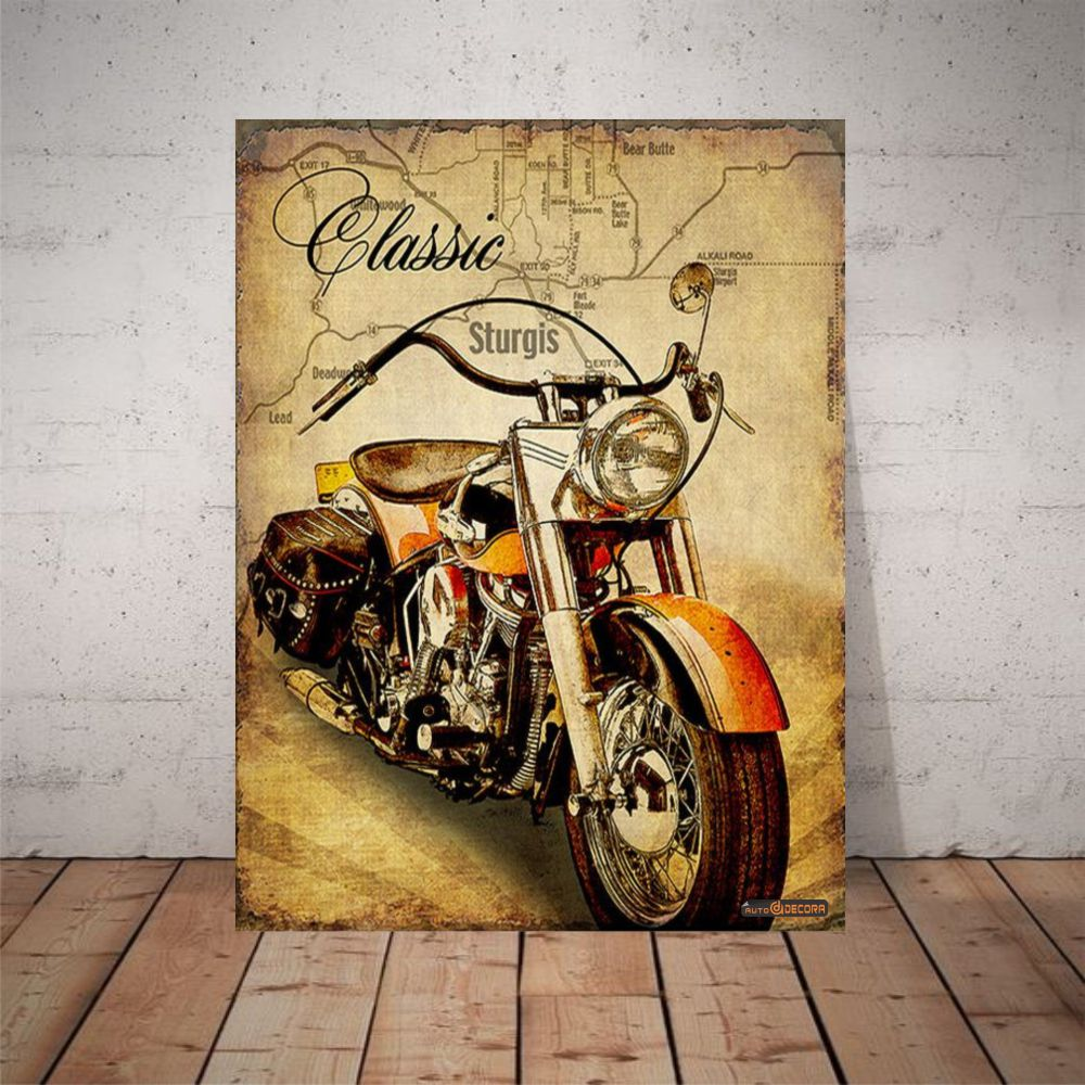 Placa Decorativa Sturgis Motocycles Rally
