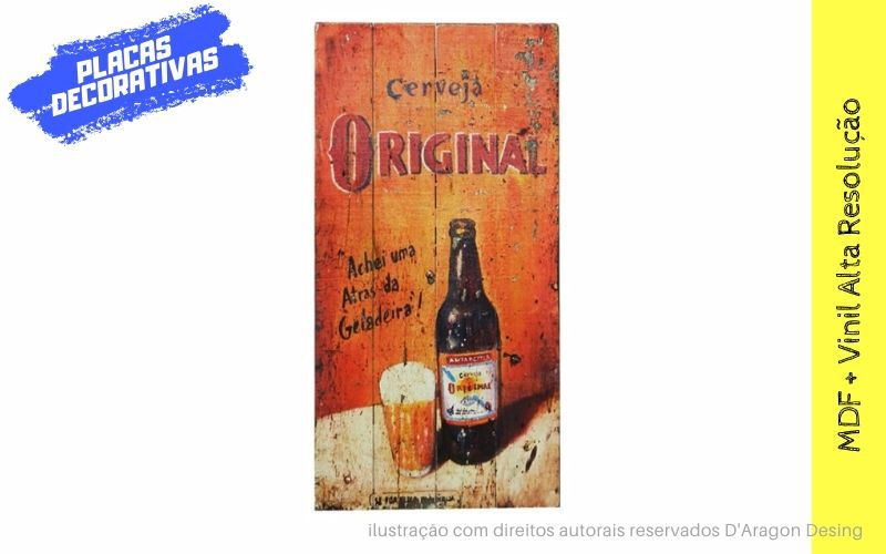 Placa Decorativa Vintage Bar Cerveja Original