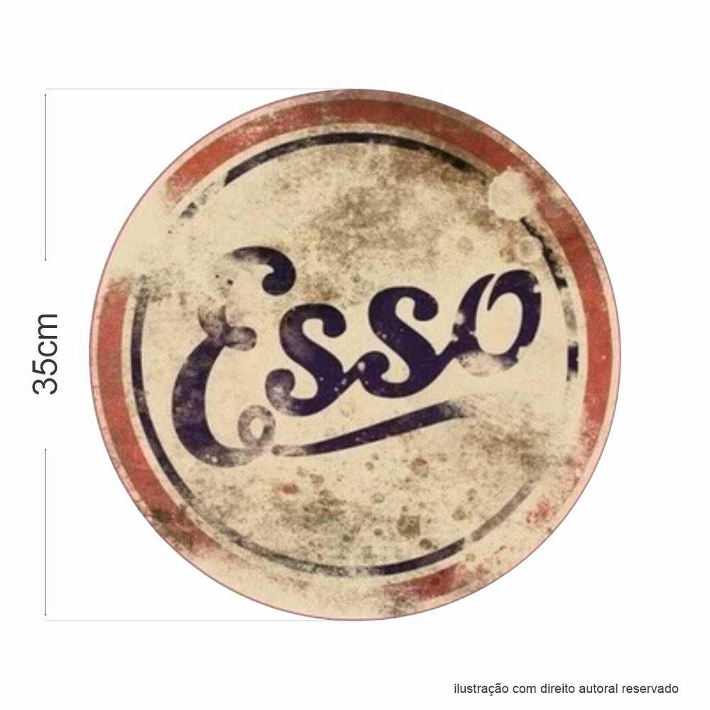 Placa Esso Vintage em MDF 9mm