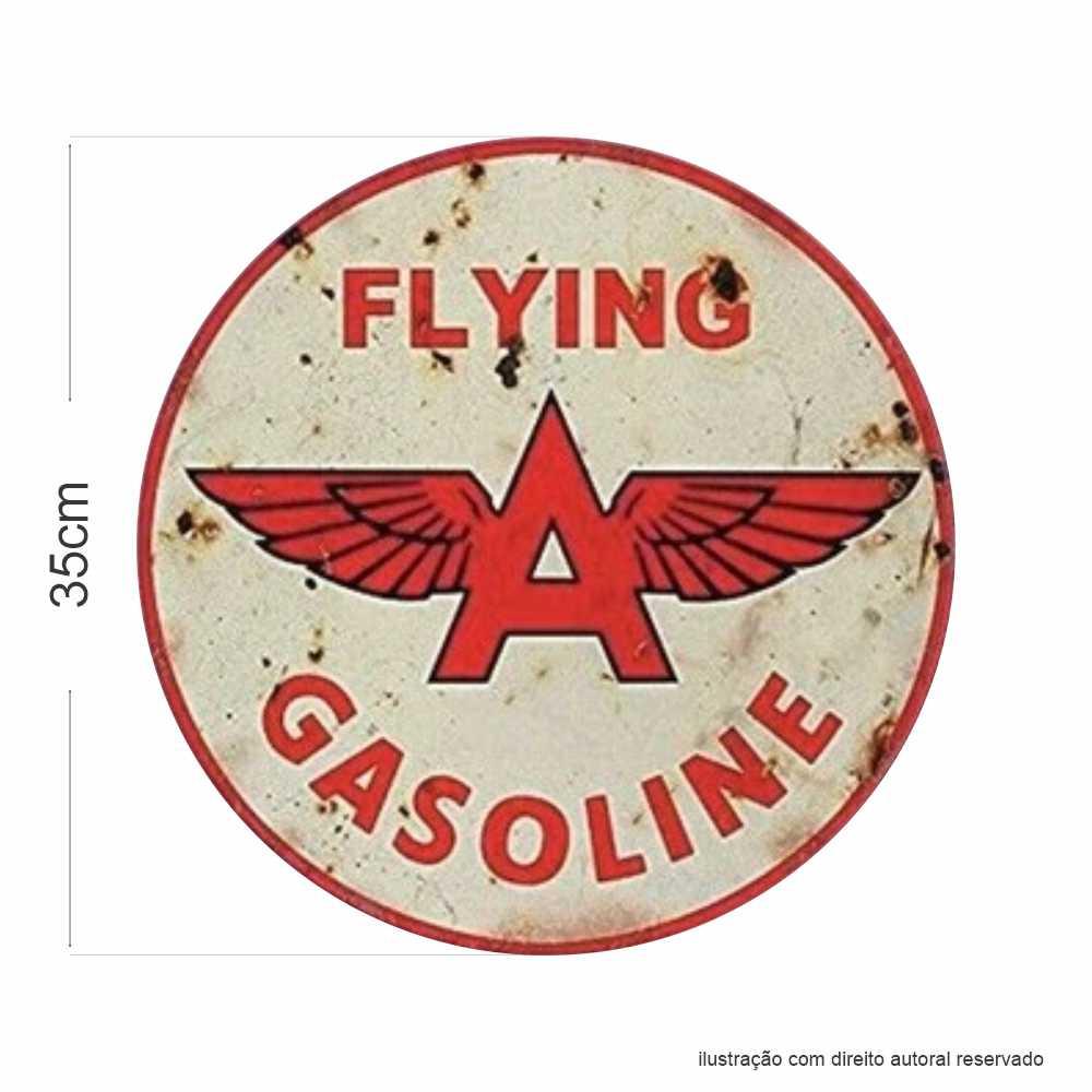 Placa Flying Gasoline Vintage em MDF 9mm
