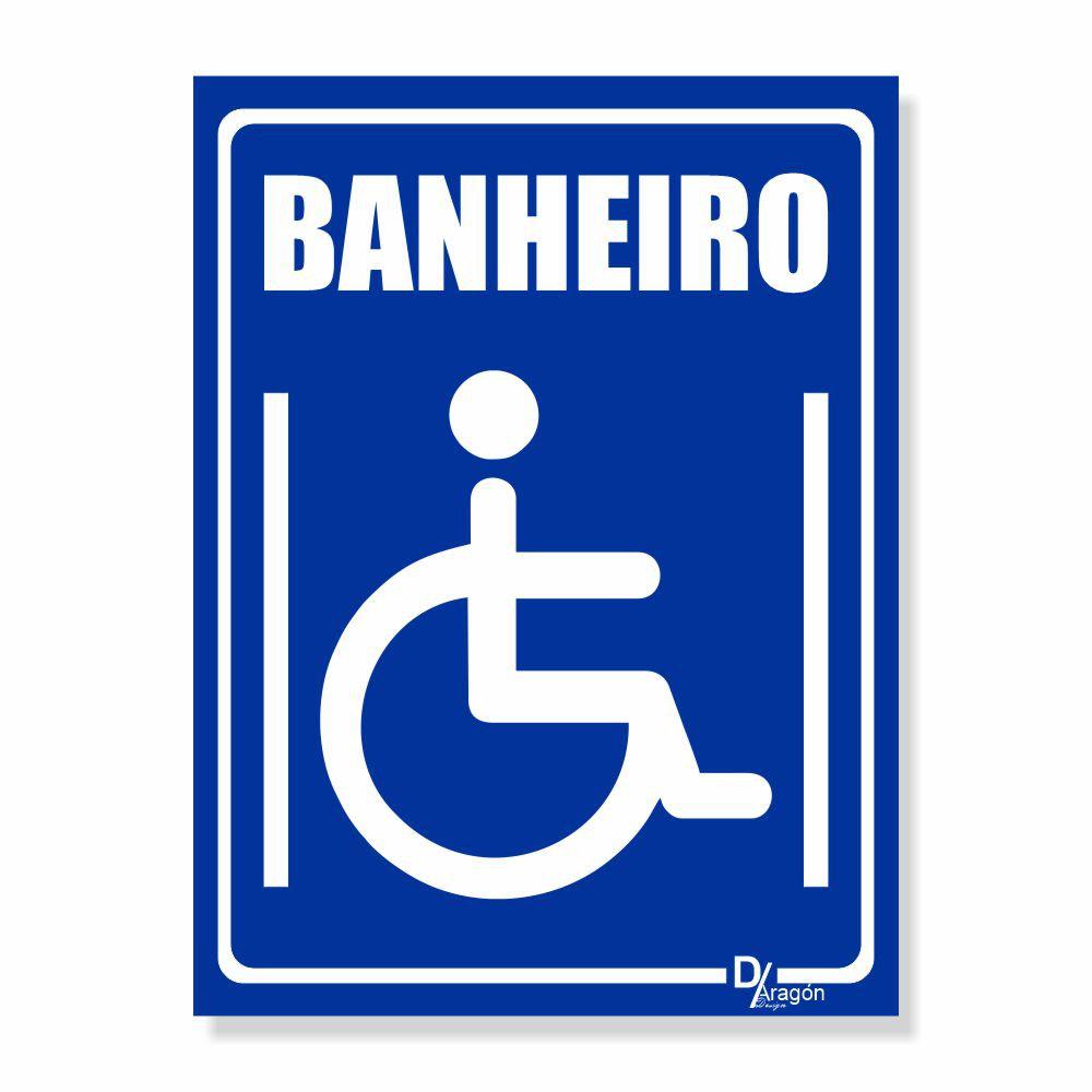 Placa PVC Acessibilidade Banheiro Cadeirante