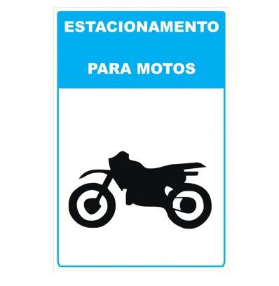 Placa PVC Estacionamento para Motocicletas