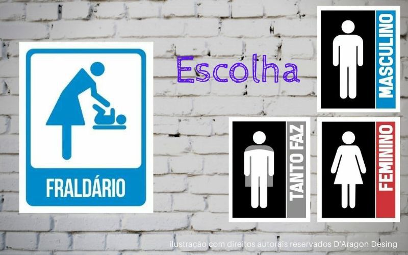 Placa PVC Indicativa Banheiro Masculino