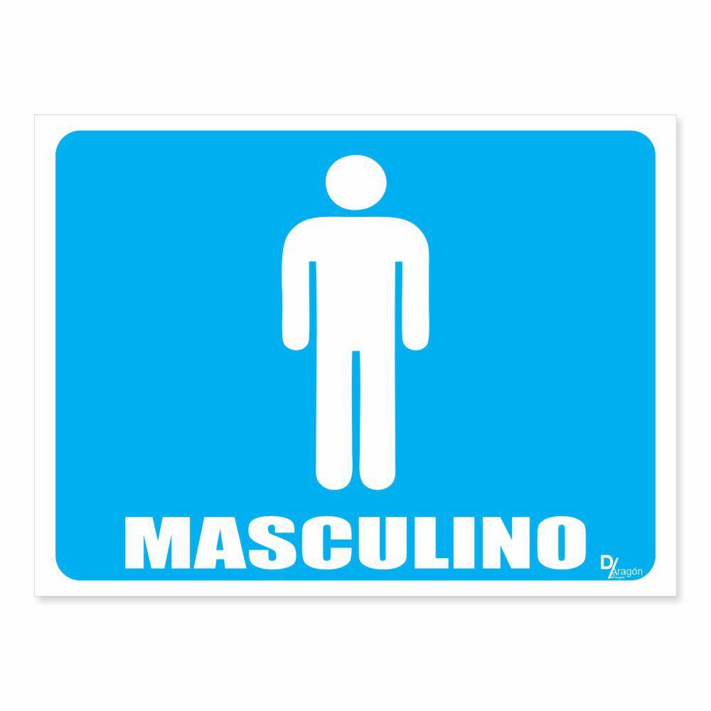 Placa PVC Indicativa de Banheiro Masculino