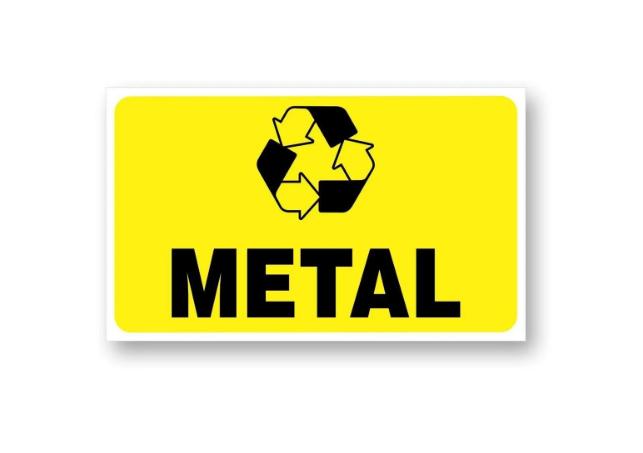 Placa PVC Indicativa Deposito Lixo Metal