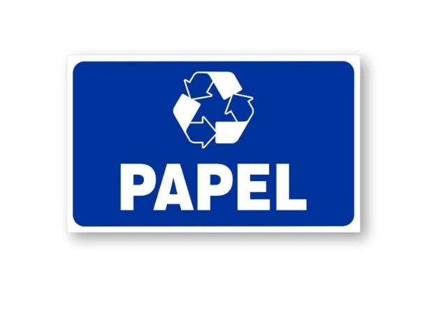 Placa PVC Indicativa Descarte Deposito Lixo Papel