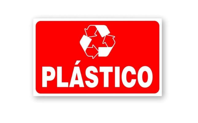 Placa PVC Indicativa Descarte Deposito Lixo Plastico