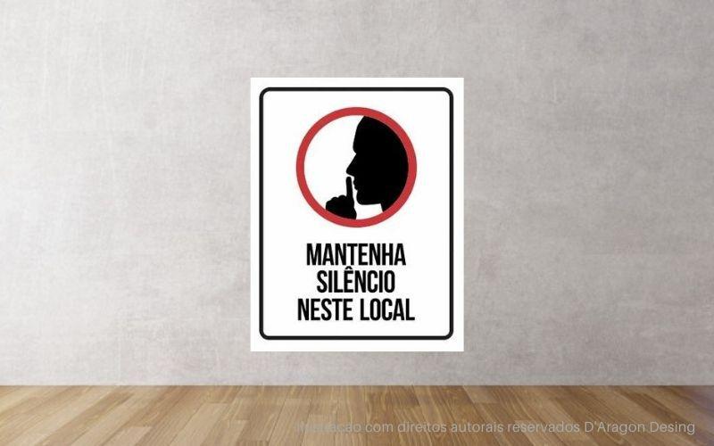 Placa PVC Mantenha Silencio Neste Local
