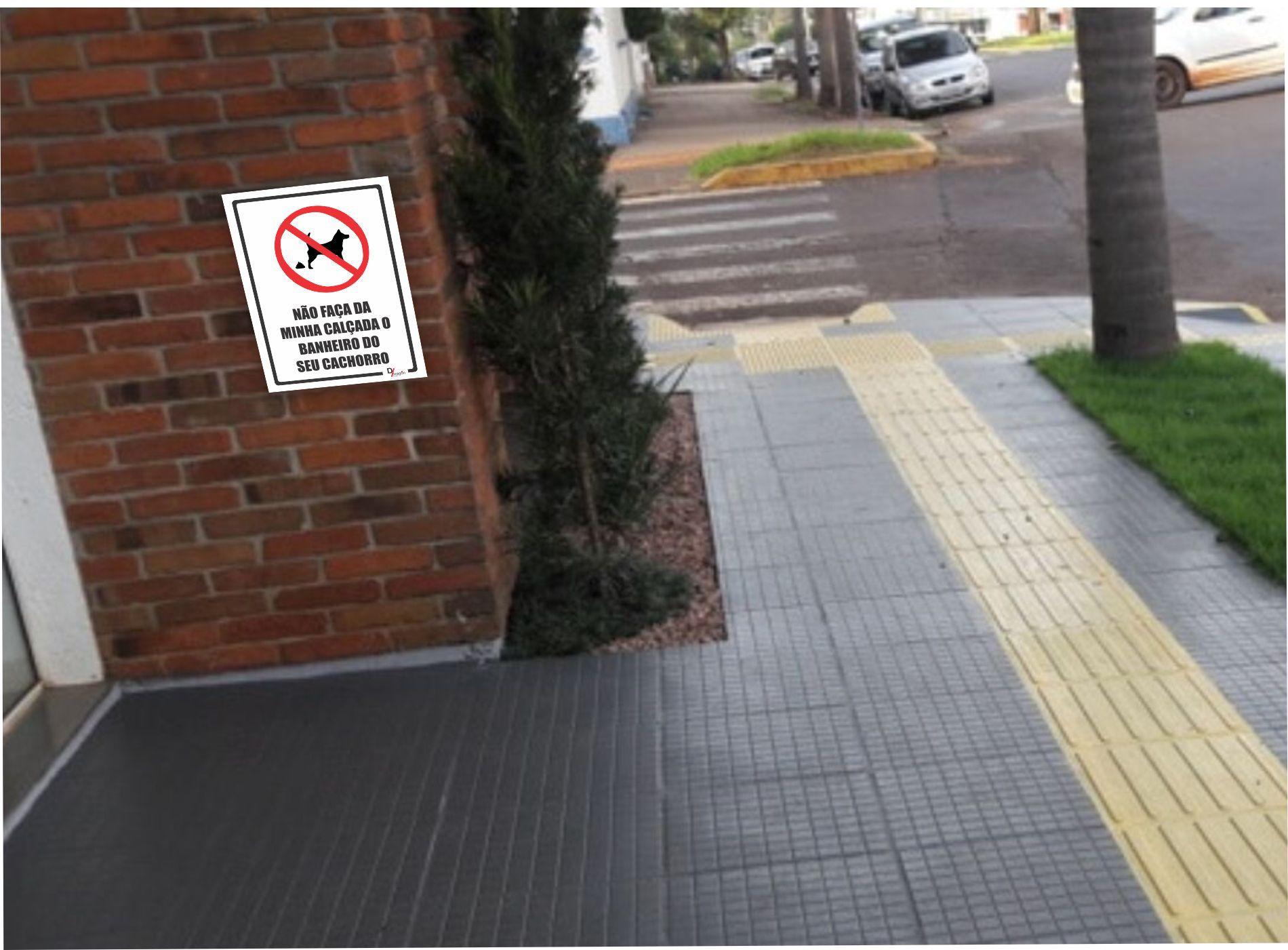 Placa PVC Proibido Dejetos de Animais