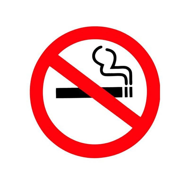 Placa PVC Simbolo de Proibido Fumar Vermelho