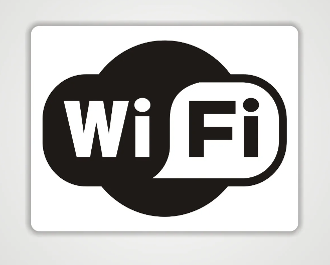 Placa PVC Wifi Branco e Preto