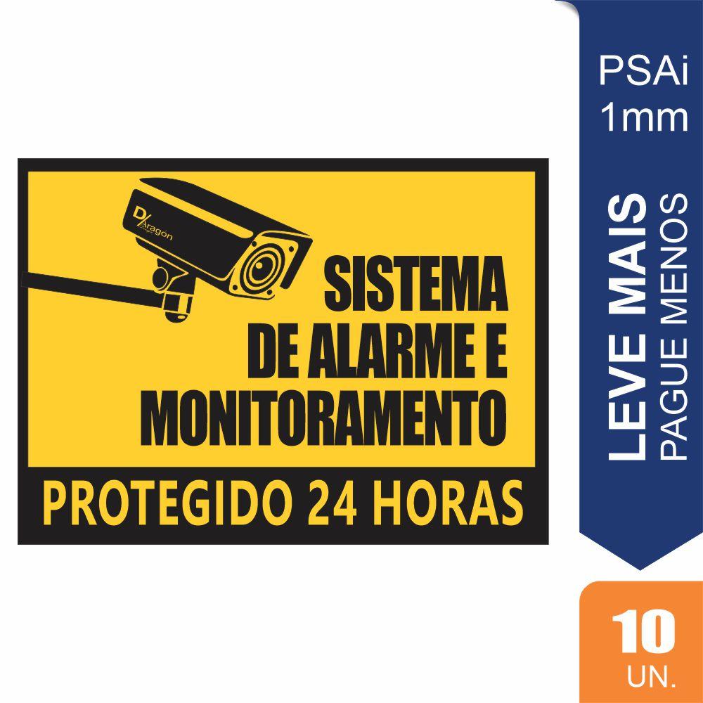 Placas Sistema de Alarme PS1mm Pct c/10 un 20x27cm