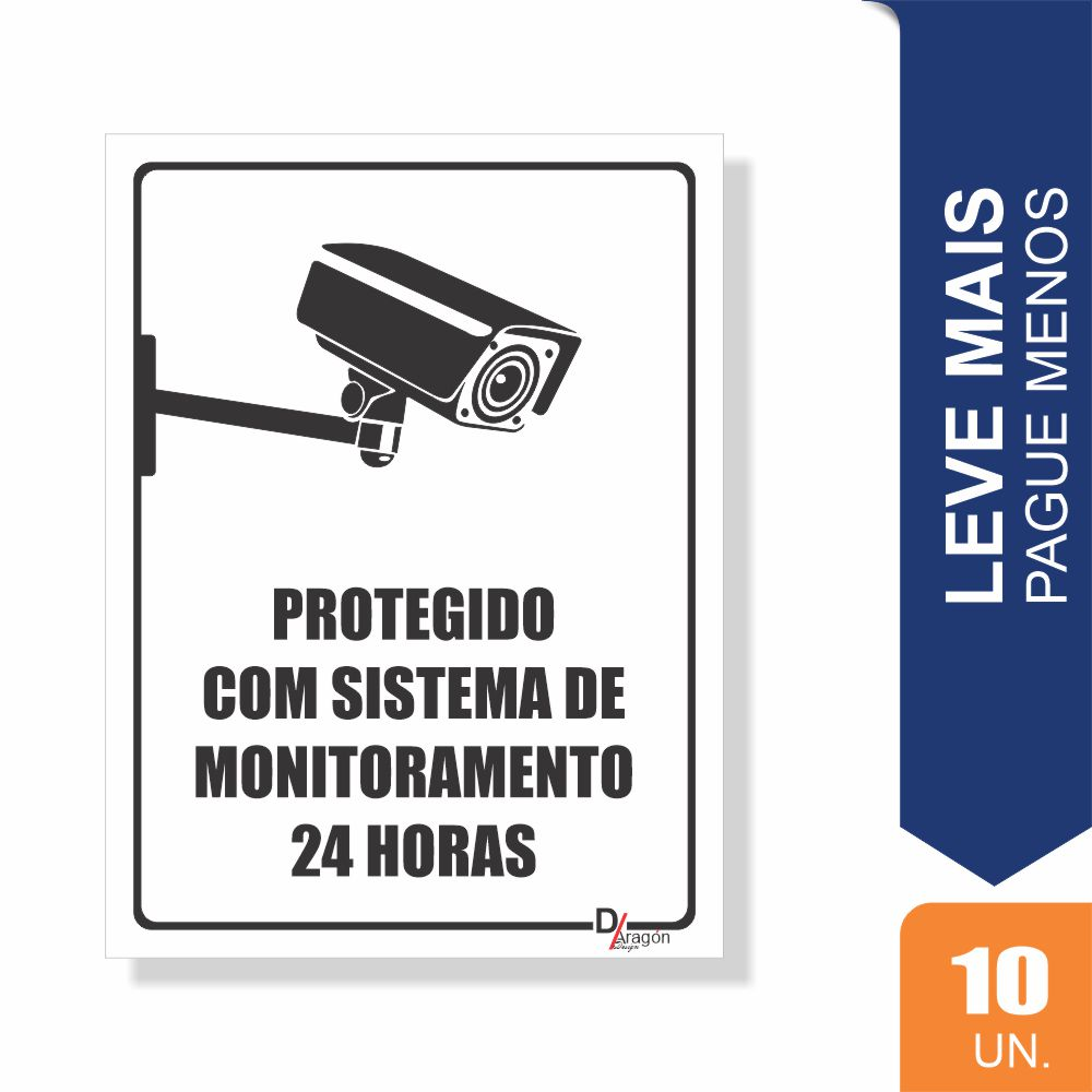 Placas Sistema de Monitoramento Pct c/10 un PS1mm 15X20cm