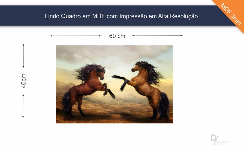 Quadro Decorativo Cavalos Indomáveis 40x60cm