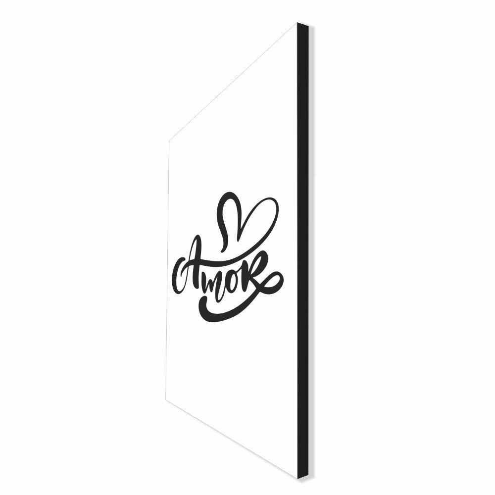 Quadro Decorativo Série Love Collection Amor Arabesco