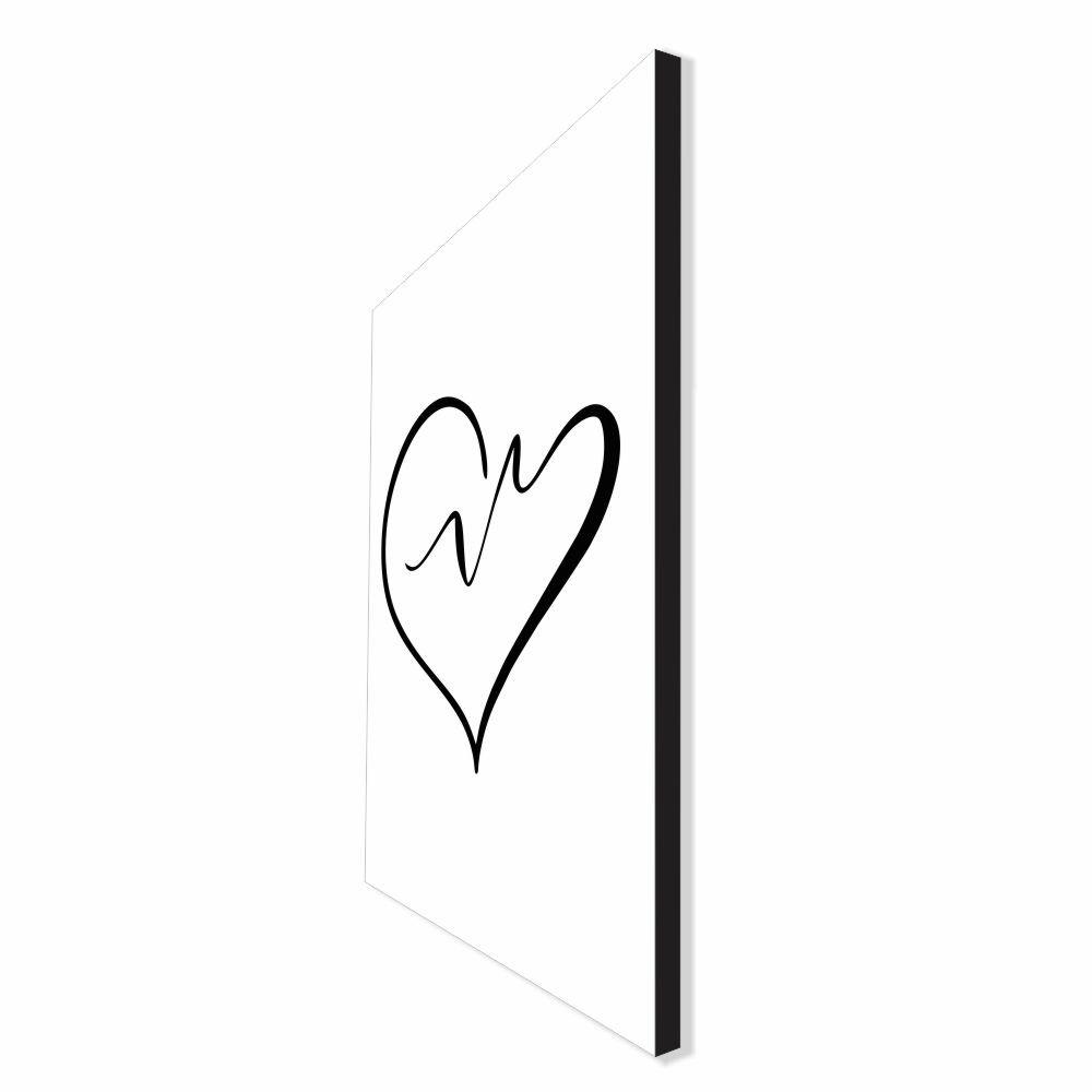 Quadro Decorativo Série Love Collection Coração Abstrato