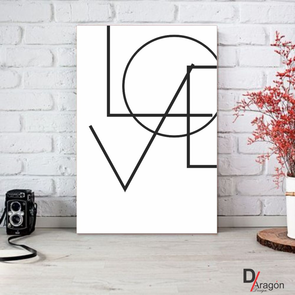 Quadro Decorativo Série Love Collection Geometric Love